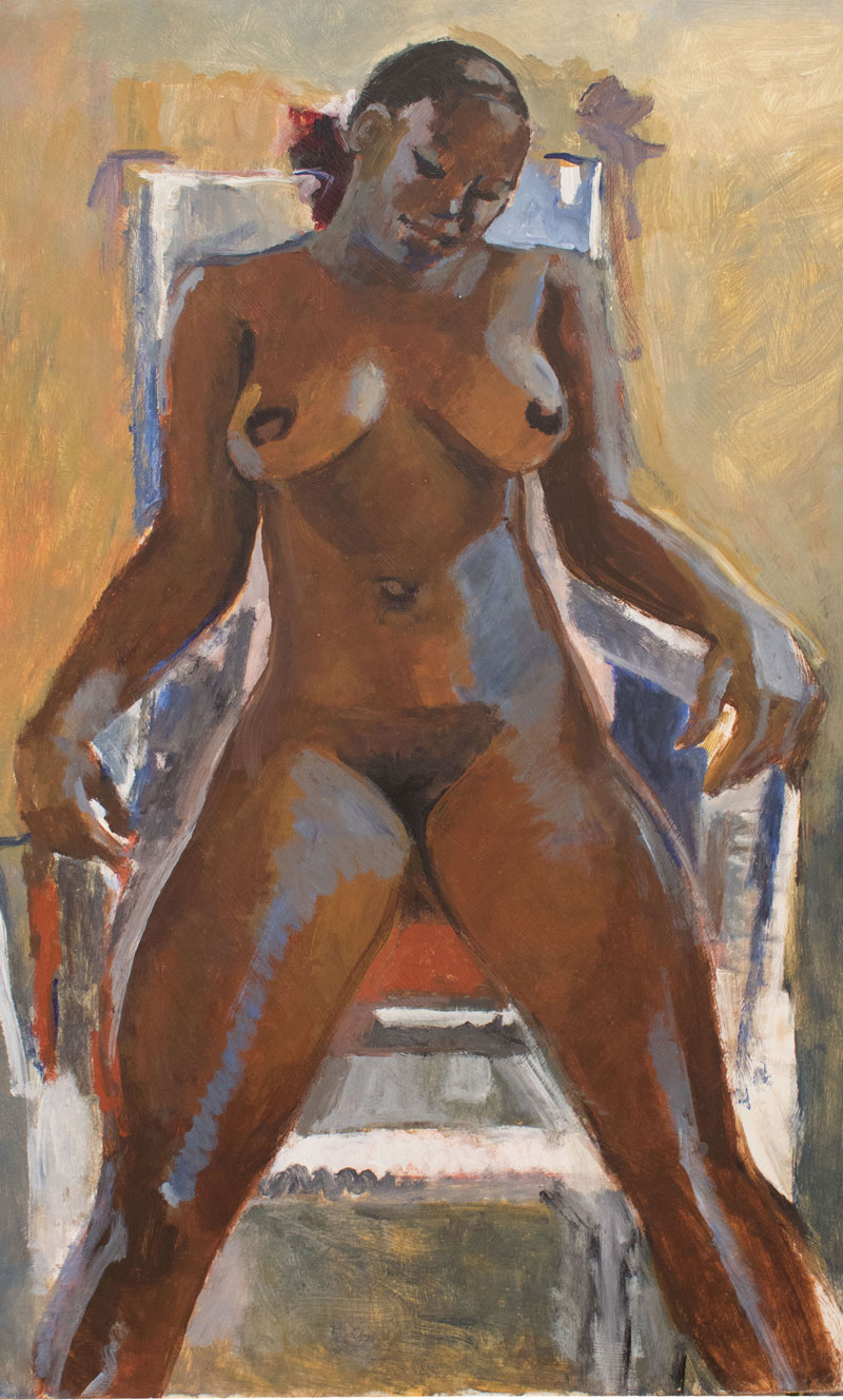 FEMALE NUDE IN CHAIR
