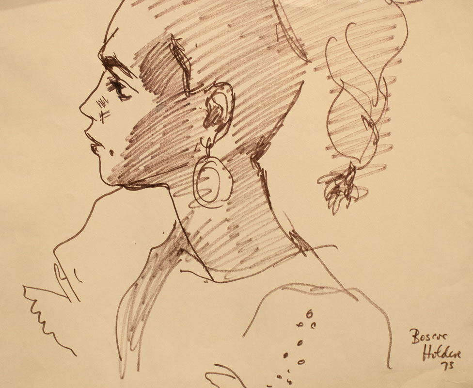 Profile with Earings