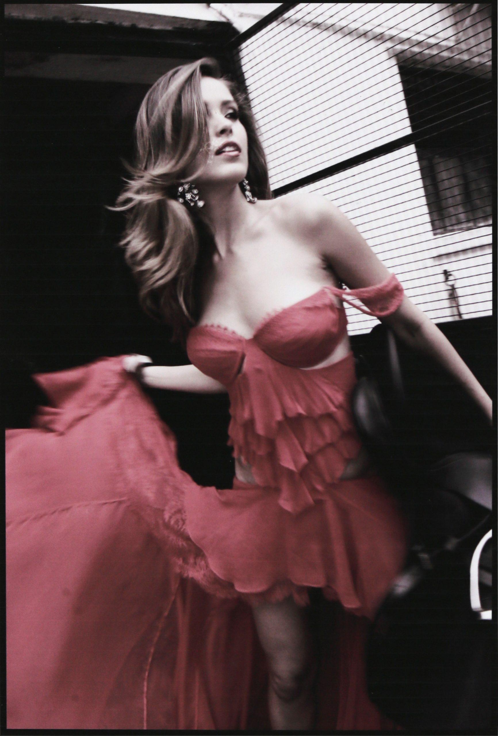 Petra Němcová In The Red Dress