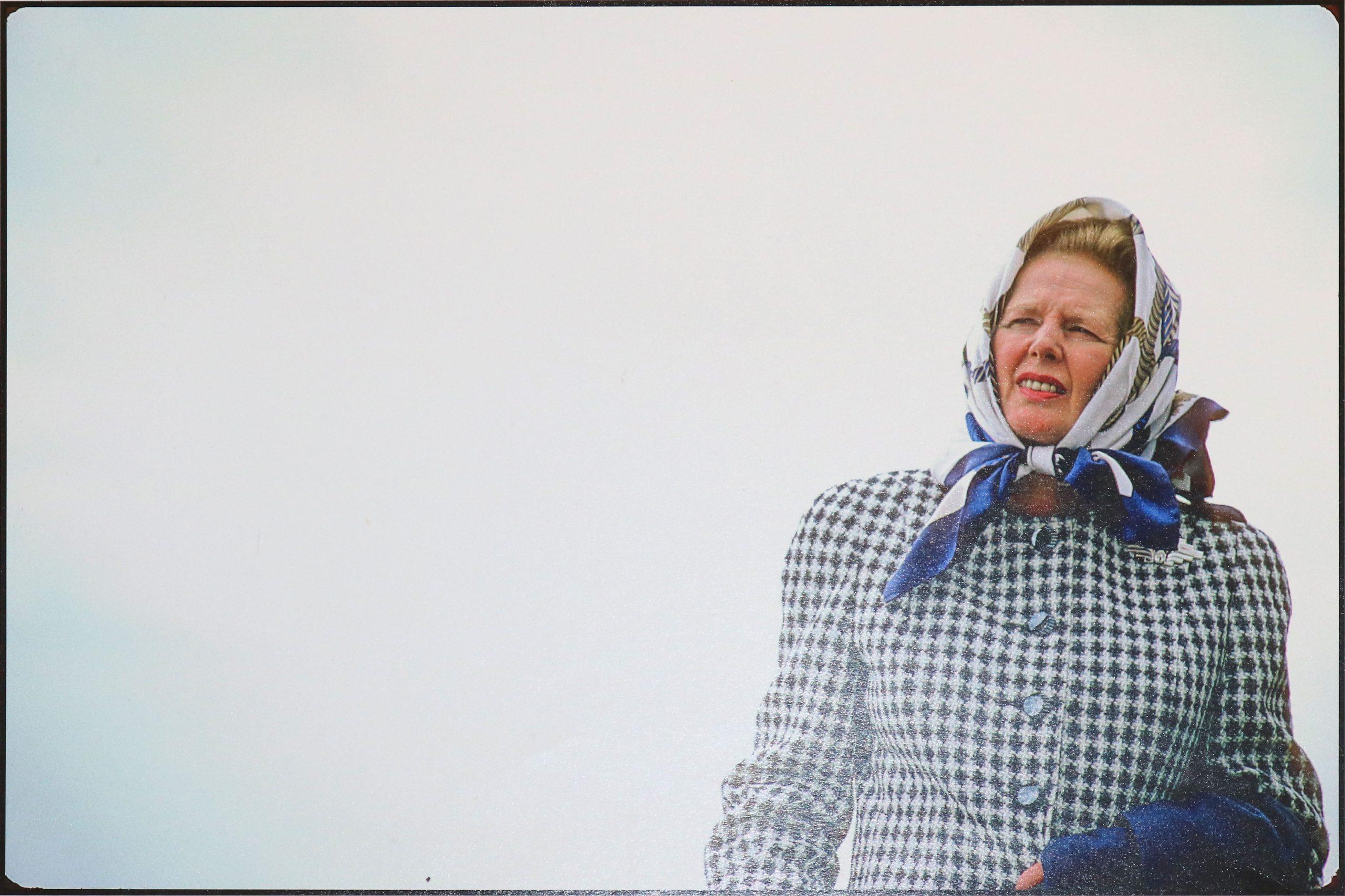 Margaret Thatcher Windswept 1987